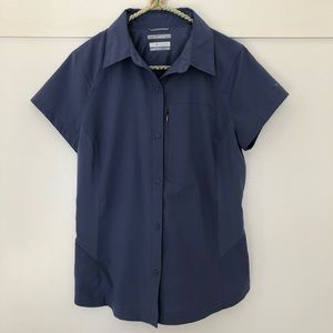 Columbia OMNI-SHADE button down t-shirt - blue